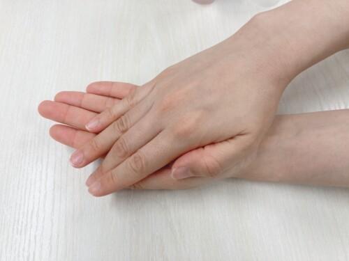手のひらで温める
